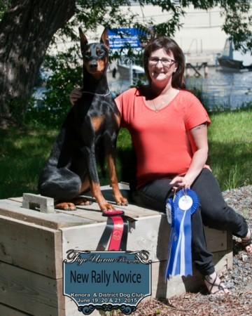 Raven and her owner Charlene - Rally Novice